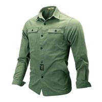 Mens Shirt Mode Revers-beiläufige Shirt Männer Herbst New Slim Fit Langarm-Shirt Männer asiatischer Größe M-4XL