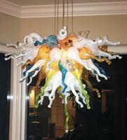 100% soffiato borosilicato Led Light Housing Art Glass Lampadario Chihuly Stile multicolore a mano soffiato di Murano Glass Chandelier