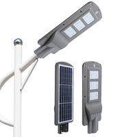 고휘도 광 IP65 한 레이더 센서 20w 40w 60w 도로 옥외 태양 LED 가로등에 6500K에서 3000K 85-265V의 모든 방수