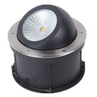 (10pcs / lot) 조정 가능한 각도 COB 매장 된 램프 15W 20W 25W 30W 디 밍이 가능한 갑판 조명 램프, Recessed LED Inground COB