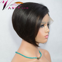 Vancehair 360 Wigs 130% Density Natural Color Short Bob Wigs...