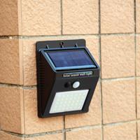 Solar Luzes Ao Ar Livre Sem Fio 35 LED 3 modos Sensor De Movimento Solar Luzes, Luzes de Segurança à prova d 'água para Parede Ao Ar Livre morno branco 10 pçs / lote