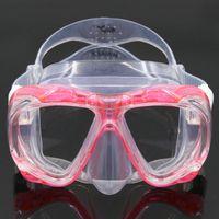 Atacado-baleia marca de qualidade Super Full Face silicone líquido caça submarina preto / mulheres equipamento de mergulho máscara de mergulho wen -700