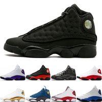 2020 Klasik Moda 13 13s basketbol ayakkabıları Kara Kedi Lakers ABD 7-13 Gri ayak Chicago Erkek Sports spor ayakkabıları eğitmenler boyutunu rakipleri