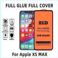 Full Glue 21D 9D Tempered glass screen protector film for ip...