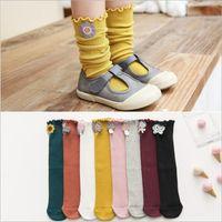 Bebek Çorap Kız Diz Yüksek Çorap Karikatür Günlük çorap Çocuk Moda Uzun Çorap Şeker Renk Chaussette Pamuk Boot Halhal Ayak Isıtıcıları 4626