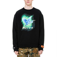 19FW high quality HERON PRESTON Russian embroidered crane mo...