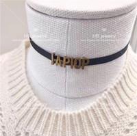Mode High Version Letter Collier Collier Couker Bijoux pour Lady Design Femme Femme Fête Amoureux de mariage Bijoux cadeaux avec boîte