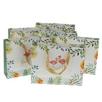 Confezione da 6 Romantic Flamingo Tote Bag Biscuit Casy Boxes Wedding Party Regalo