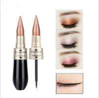 Eyeshadow and Eyeliner Double- head Waterproof Eye Make Up Sh...