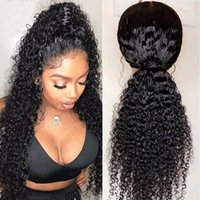 Curly long medium Human Hair Full Lace Wigs With Soft Baby H...