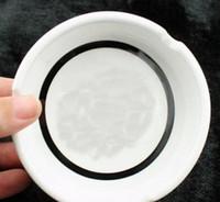 Venda Famosa Padrão Cerâmica Cinzeiro Com Moda Clássico Branco e Preto Rodada Cinzeiro