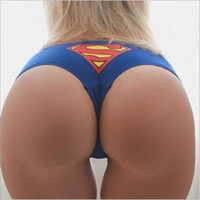 Women Sexy G- String Thongs Lingerie Superrman Underwear Capt...
