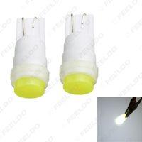 venta al por mayor blanco T10 194 W5W COB carcasa de cerámica 1.5W interior del coche luz LED cuña luz lateral bombilla puerta luz # 4621