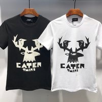 Men' s T- shirt personality deer head pattern print comfo...