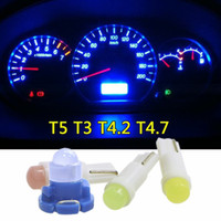 1 Parte luz T5 T4.7 T4.2 T3 COB Wedge Instrument Painel do carro Medidor de LED Light Bulb Motorcycle
