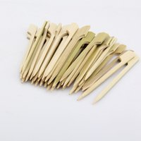 10.5 cm Natural Bamboo Picks Pinchos para BBQ Aperitivo Snack Party Cocktail Grill Kebab Barbeque Sticks QW9695