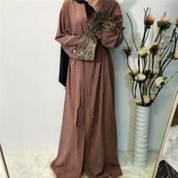 Ramadan Abayas für Frauen Muslim Hijab Kleid Kaftan Kimono Strickjacke Abaya Kaftan Dubai Katar Arabelle Oman Robe Femme Islamische Kleidung