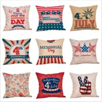 Couch pillowcase Printed pillow cover U. S Independence day C...