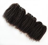 capelli corti sexy remy di Afro Estensioni brasiliani Capelli europei vergini europei malesi 8-18inch 10pcs 1000g / lot Rifornimento della fabbrica