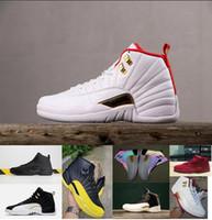 12s الثاني عشر رياضة الأحمر أحذية كرة السلة الثاني عشر cny الصينية السنة الجديدة أحذية رياضية الرجال جامعة الذهب الشتاء أحذية fiba أجنحة 12 رياضة