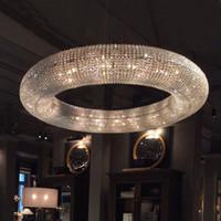 럭셔리 크리스탈 거실 샹들리에 링 LED 현대 호텔 엔지니어링 장식 조명 북유럽 간단한 램프