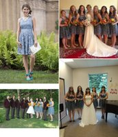 2019 Country Style Short Bridesmaid Dresses Scoop Lace Plus ...