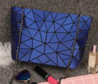New Women Chain Shoulder Bag Luminous sac Bao Bag Fashion Geometry Messenger Bags Plain Folding Crossbody Bags Clutch bolso