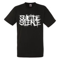 SUICIDE SILENCE LOGO Black T- shirt Rock Band Shirt Heavy Met...