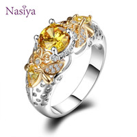 Yellow Animal Bee Finger Rings For Women Men With Zircon 925...