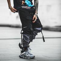 Para hombre de la vendimia Pantalones ocasionales de los hombres de algodón chándal sólido lazo de Streetwear del harem holgado Hombres pantalón de entrenamiento tamaño asiático S-2XL
