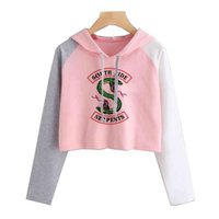Riverdale Funny Women South Side Serpents Hoodie Sudaderas SouthSide Estampado de dibujos animados Pullover con capucha Chándal capucha femenina
