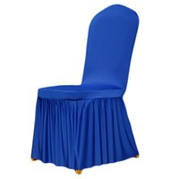 Lycra Spandex Stretch Chair Covers Wedding Event Banquet Anniversary Party Decoration Black White Red 12 Colors