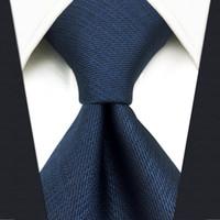 """D20 البحرية الصلبة الرجال ربطة العنق الحرير فستان كلاسيكي المنديل العلاقات لالذكور أزياء الزفاف إضافي طويل حجم 63 """""""