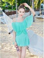 5 الألوان فريدة من نوعها تصميم المرأة بدلة السباحة التنورة الاستحمام الدعاوى قطعة واحدة ملابس السباحة الصلبة اللباس شاطئ السيدات M-2XL
