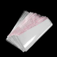 أكياس التخزين واضح ذاتية اللصق ختم كيس التغليف البلاستيكية الأغلاق أكياس السيلوفان OPP بولي أكياس الهدايا