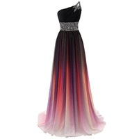Charming Chiffon Ombre Affordable Bridesmaid Dresses A- Line ...