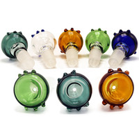 Colorful Glass Bong Bowls 10mm 14mm 18mm Male Female Dotted ...