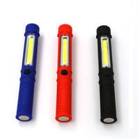 COB LED Mini Caneta Multifuncional led Torch light cob Lidar com lanterna de trabalho cob Trabalho Lanterna de mão da tocha