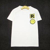 656586ed9 Summer new products Casual wild smiley face letter T-shirt round neck Lycra  cotton lovers short sleeve wholesale