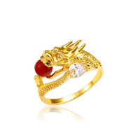 MGFam (290R) Party Dragon Rings per donna Uomo 24k Pure Gold Plated Personal Jewelry 2019 Nuovo
