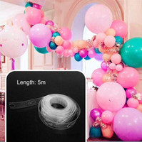 5m Balloon Chain Tape Arch Connect Strip for Wedding Birthday Party Decoration New Balloon accessory strap Wedding