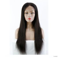 360 Full Lace Human Hair Wig For Black Women Pre Plucked Sil...
