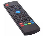 MX3 المحمولة 2.4G اللاسلكية التحكم عن بعد T3 الهواء فأر تحكم لوحة المفاتيح ل TS3V الذكية الروبوت التلفزيون مربع مصغرة PC HTPC LLFA