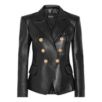 Balmain Women Jacket Balmain Women Clothes Black Leather Jac...