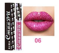 Dropshipping CmaaDu Diamond Shining Lipgloss Fiesta de Halloween Cosméticos Gliter Metallic Brillo de labios Maquillaje profesional Lápiz labial líquido