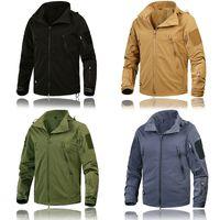 Partes de arriba chaqueta para hombre Ropa Nueva otoño abrigos ropa táctica Outwear el Ejército de los EE.UU. transpirable ligero de nylon rompevientos masculinos