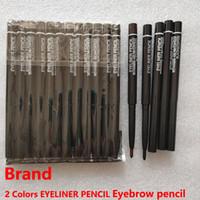 Brand Crayon Crayon Pencil Pencil Poudre 2 couleurs Casse à sourcils Noir Crayon Crayon Étanche Durable Fashion Saufrousseur automatique