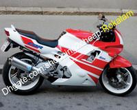 لجهاز Honda Motorcycle Parts CBR 600F 600 F2 CBR600 CBR600F2 1991 1992 1993 1994 91 92 93 94 أحمر أبيض ABS Fairing Kit