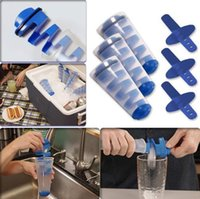 Mighty Freeze Ice Maker Tool espiral DIY molde de hielo cubo portátil Ices Cream Tubes multifuncional Ice Pop OOA6644